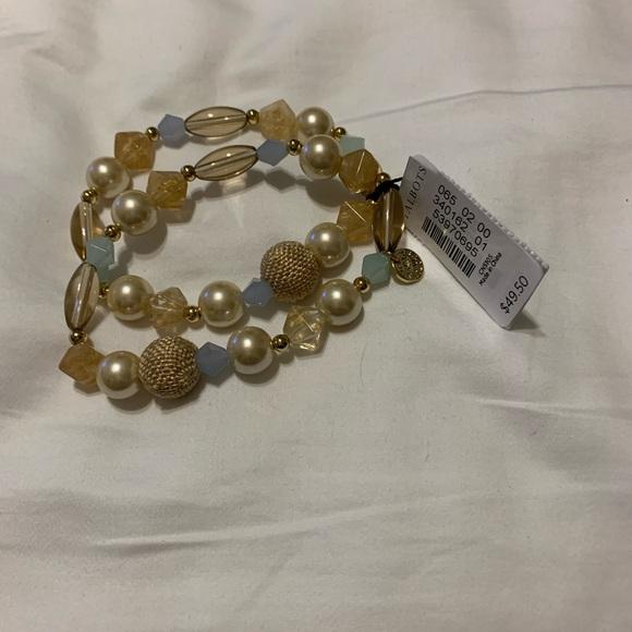 2 Talbots Stretch Bracelets Semi Precious Stones